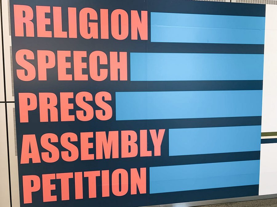 The first amendment protects our right to freedom of religion, speech, press, assembly, and petition.