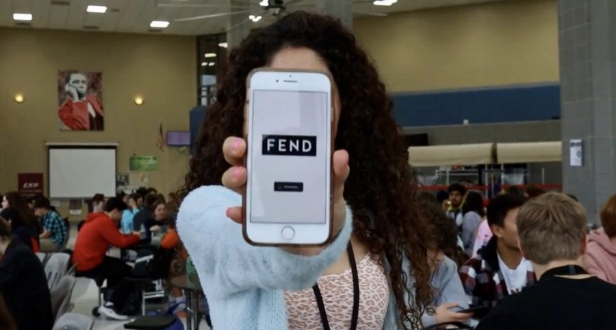 PLD student with downloaded FEND app.