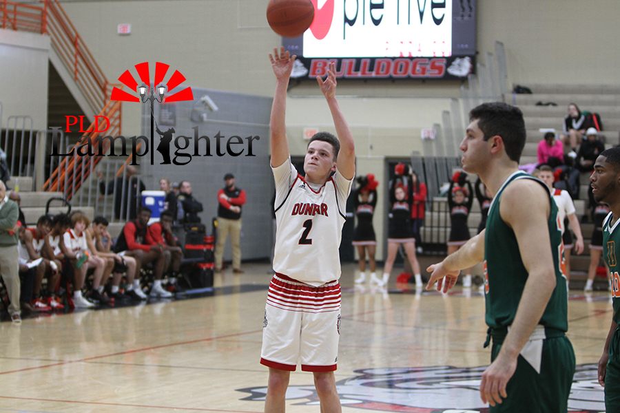 #2 Nick Spalding takes two free throws after drawing a foul.