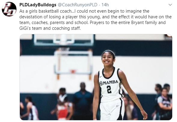 Girls' Basketball coach, Nick Runyon, tweeted from his perspective as a coach.