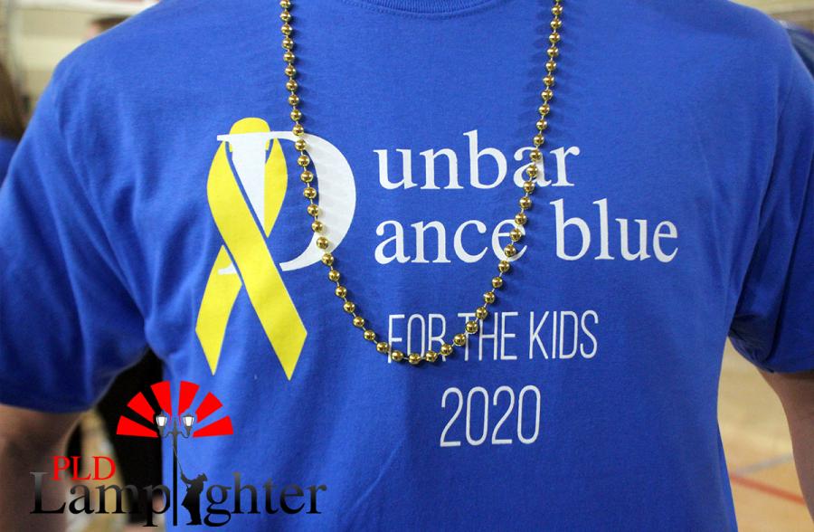 The 2020 Dunbar Dance Blue t-shirt design.