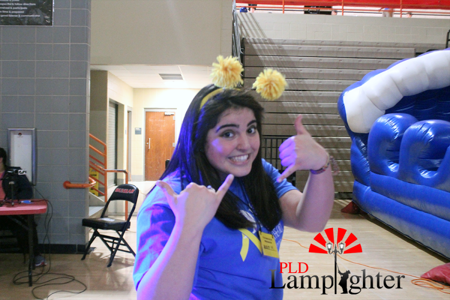 One of Dunbar's Dance Blue coordinators, Senior Nasim Zadeh, dressed up for the event.