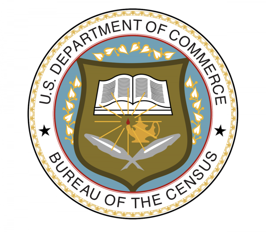 The US Department of Commerce owns the Census Bureau, which conducts the decennial survey.