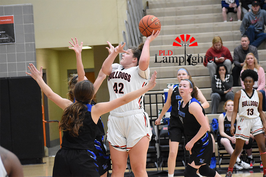 Haley Gadd, #42, goes up for a layup.