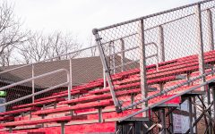 The stands at the PLD Baseball field. The stands are empty due to all the sports cancelations due to COVID 19.