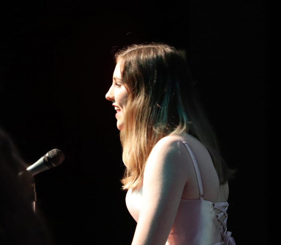 Junior Elizabeth Fitzpatrick performed as part of the Disney themed