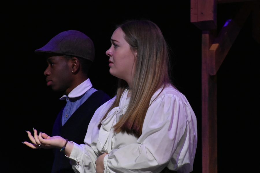 Savanna Montgomery performs as Mrs. Van Daan in the Diary of Anne Frank for her final performance at Paul Laurence Dunbar.