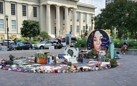 Memorial for Breonna Taylor in Jefferson Square in Louisville, Kentucky.