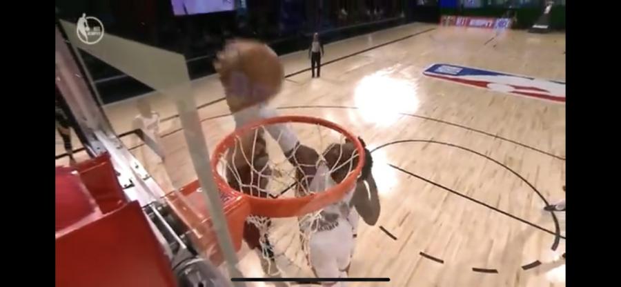 Heat forward/Center blcoks Jayson Tatum's game winning dunk attempt