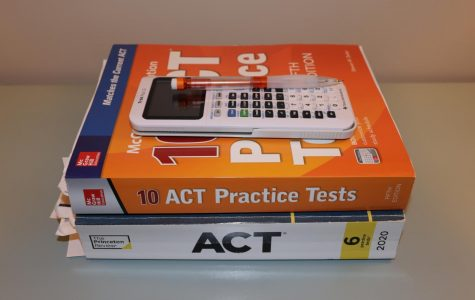 After using practice books like these to prepare for the ACT, students were disappointed to realize they weren't getting the test they'd expected.
