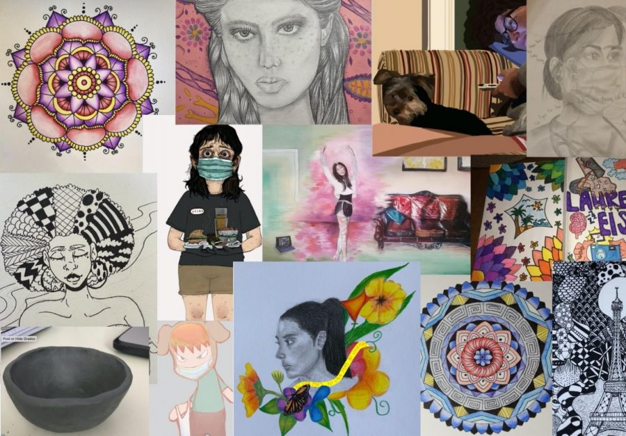 Students are making various art pieces as a way to de-stress amidst the pandemic
