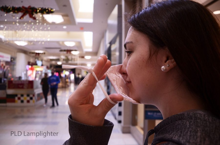 By December, students became accustomed to wearing masks in public settings, such as Fayette Mall.