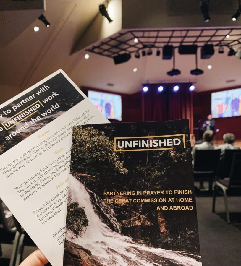 My major project for this semester was orchestrating a Global Impact Weekend for the congregation and community. These prayer resources were given to every attendee. They included all global partners and international workers of the church.