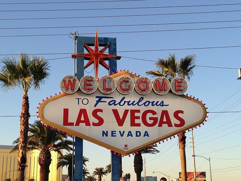 The famous Las Vegas sign in Nevada, where ballot counting for the 2020 presidential election was extremely slow.