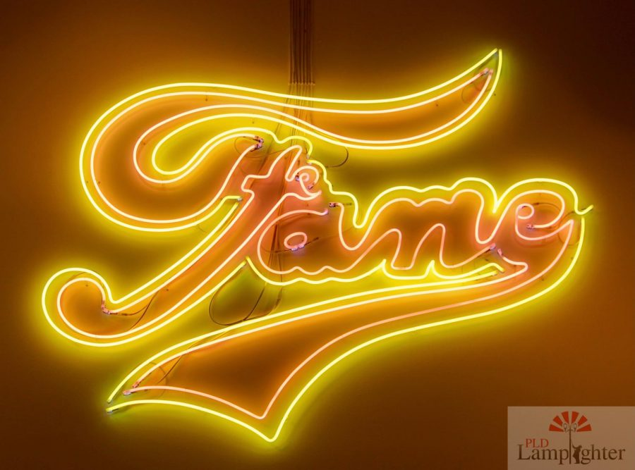 An eye-catching neon sign instalation featured in one of the 21Cs galleries.