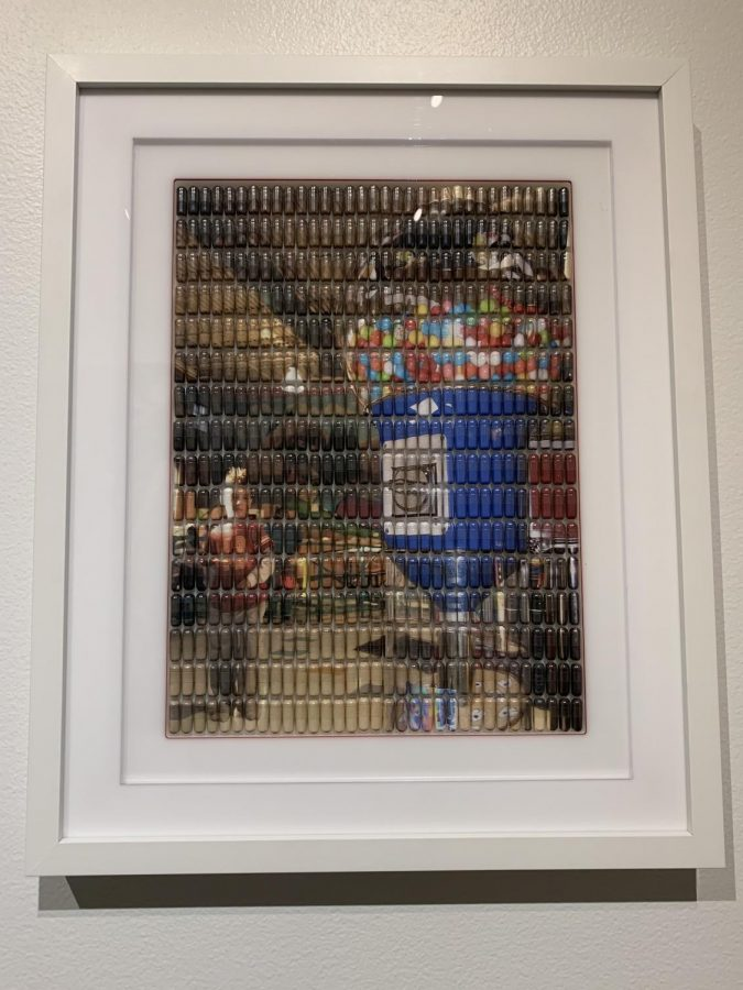 A third of the 'Sugar Daddy' collection, a series of images made up of small pills.
