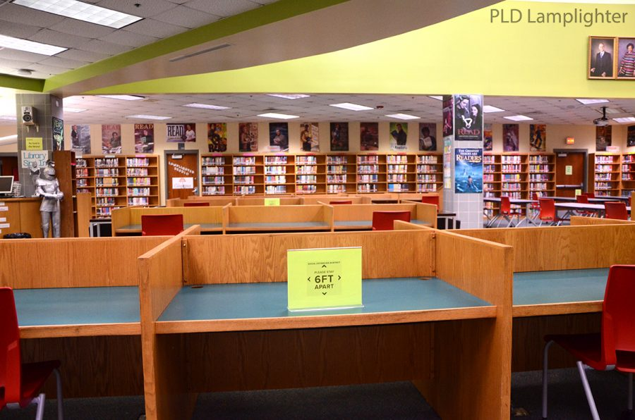 Many changes have been made to the PLD library; there are no longer any desktop computers for student use and everyone will be spaced out to follow social distancing standards.