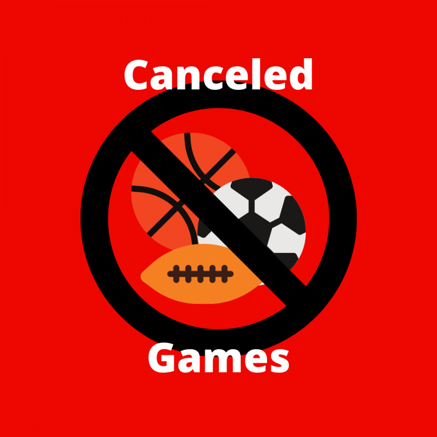 Sporting events are being canceled due to a lack of players when COVID strikes a whole team.