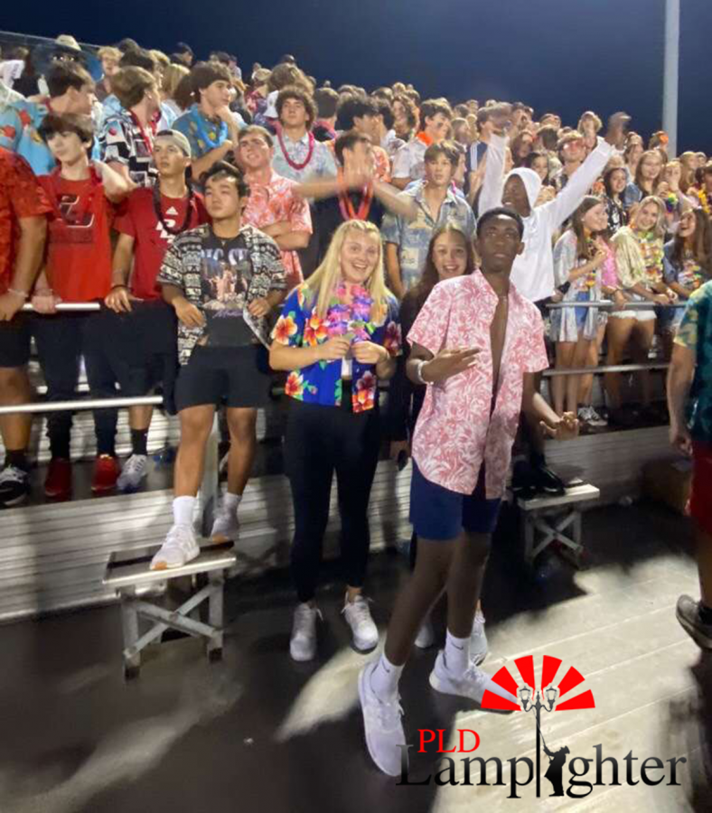 The Dawg Pound during halftime as players come onto the field ready to start a great second half of the game.