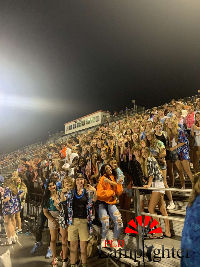 The Dawg Pound at the end of the 3rd quarter. Senior, Kamarion Robinson scores his third and Dunbars last touchdown of the night.