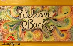 Mrs. Preptit created a welcoming sign for students, and said that she hopes to see artists thrive as we return to in-person school.